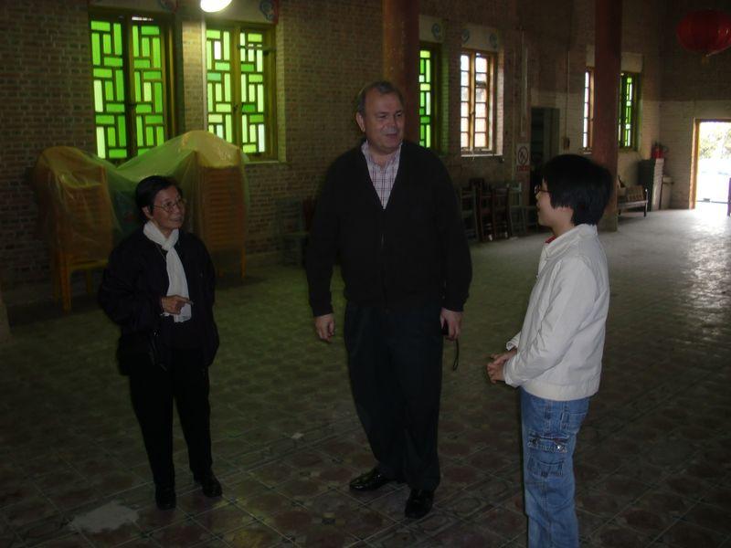 Fr. Jose with sisters at Ngai Sai