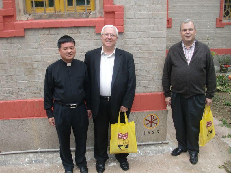 Bishop elect Liang, Fr. Dougherty and Fr. Aramburu
