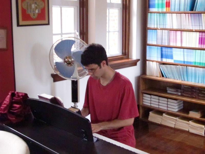 Matthew Marcus on the organ