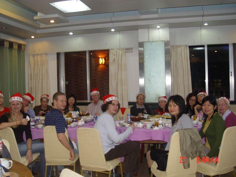 Christmas dinner at ZJNU, 2007