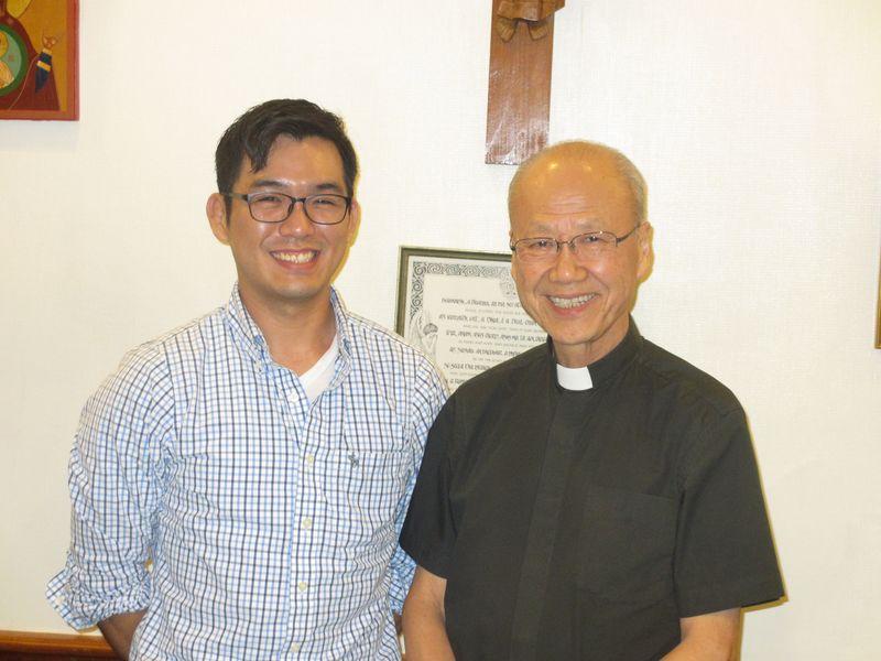 Daniel Kim and Cardinal Tong