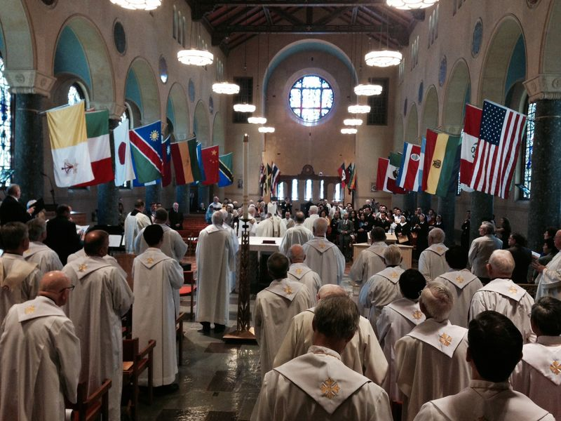 During mass